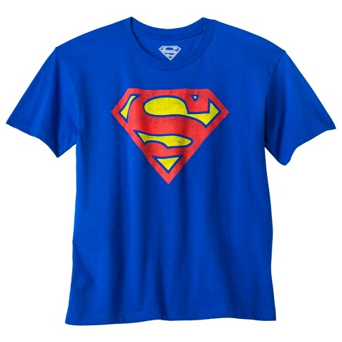 DC Comics Superman Symbol Men's Blue T-Shirt 2X-Large