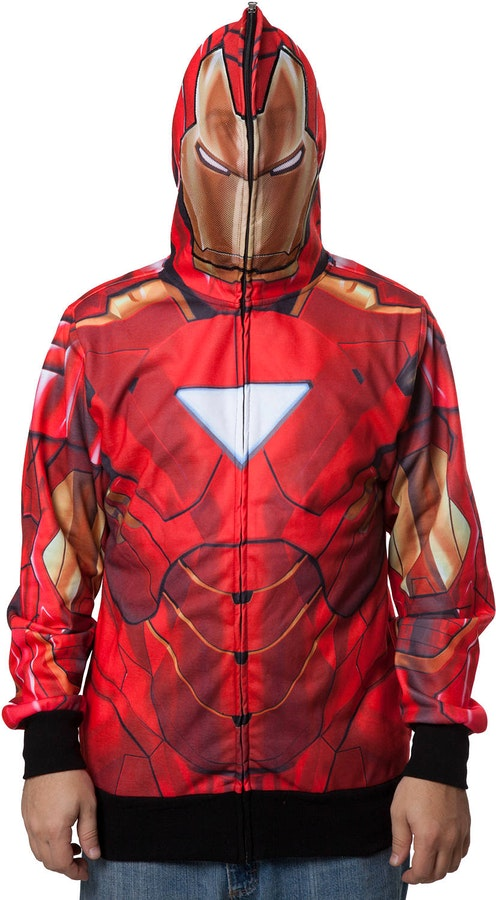 Marvel Iron Man Officially Licensed Sublimated Costume Hoodie X-Large
