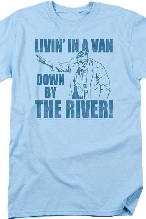 SNL Chris Farley's Matt Foley Livin' in a Van Officially Licensed Blue T-Shirt L