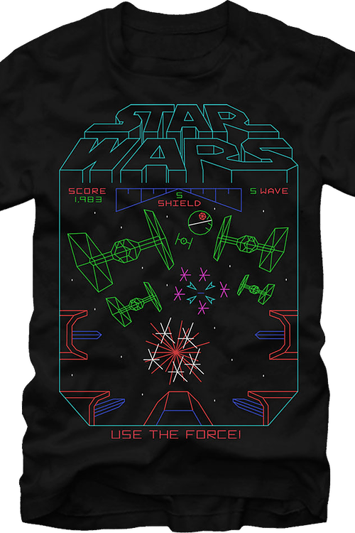 Star Wars Atari Use The Force Luke Officially Licensed Black T-Shirt Small