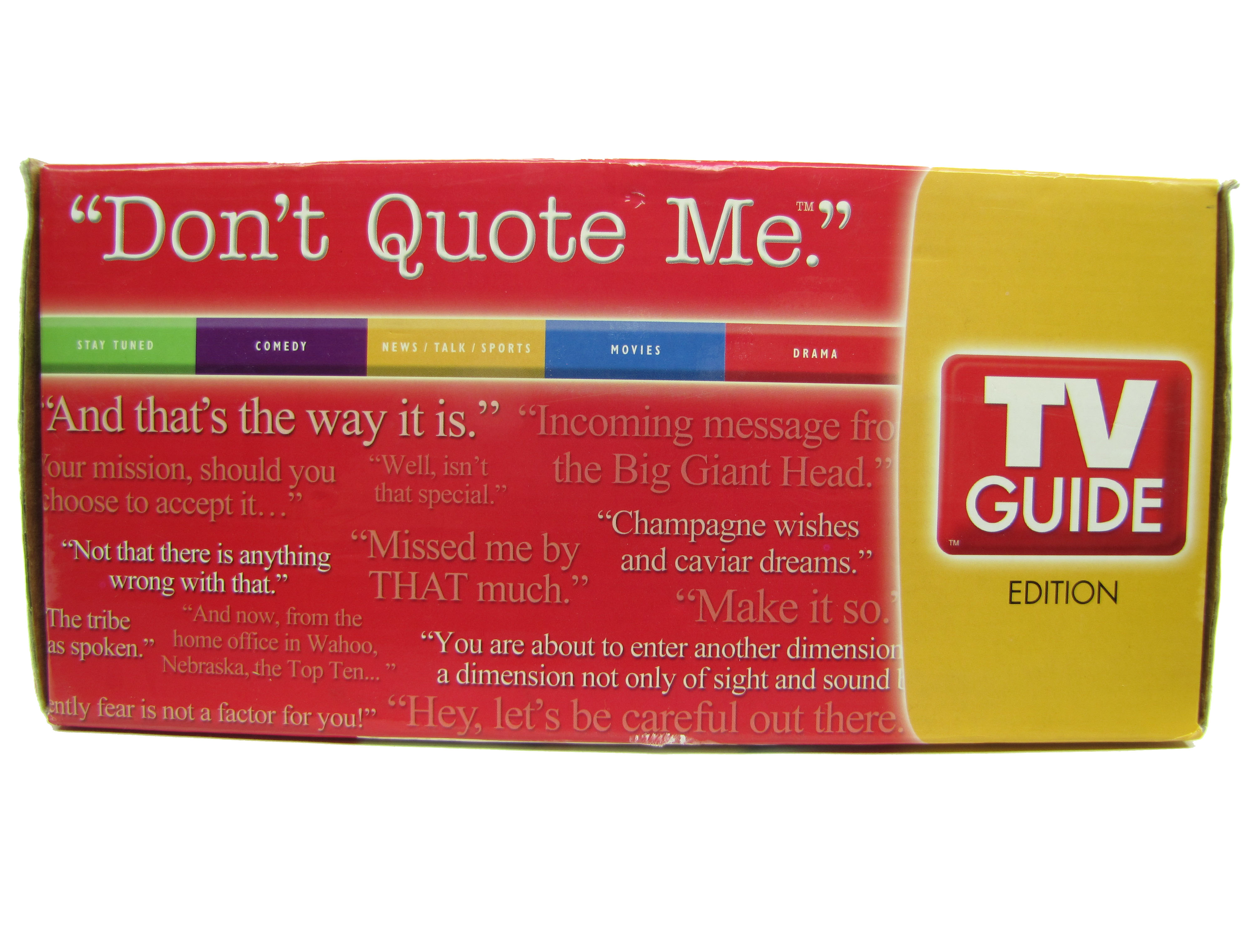 2005 Don't Quote Me TV Guide Edition Board Game Complete