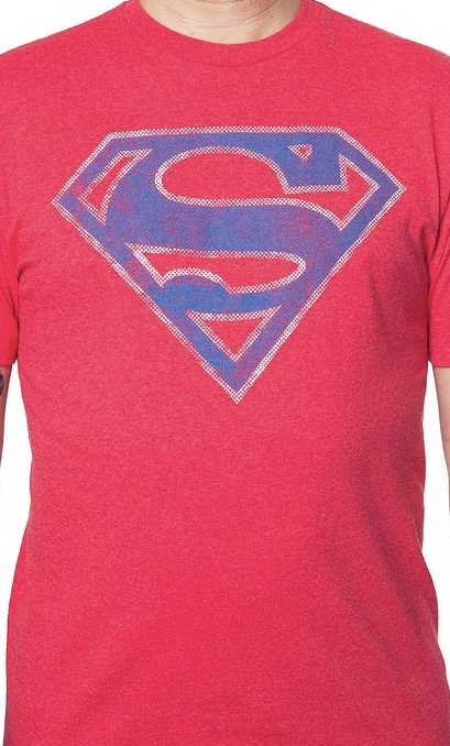 DC Comics Superman Symbol Men's Red T-Shirt 2X-Large