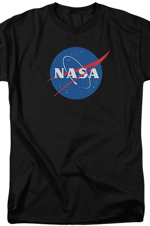 NASA Logo Officially Licensed Adult Black T-Shirt Medium
