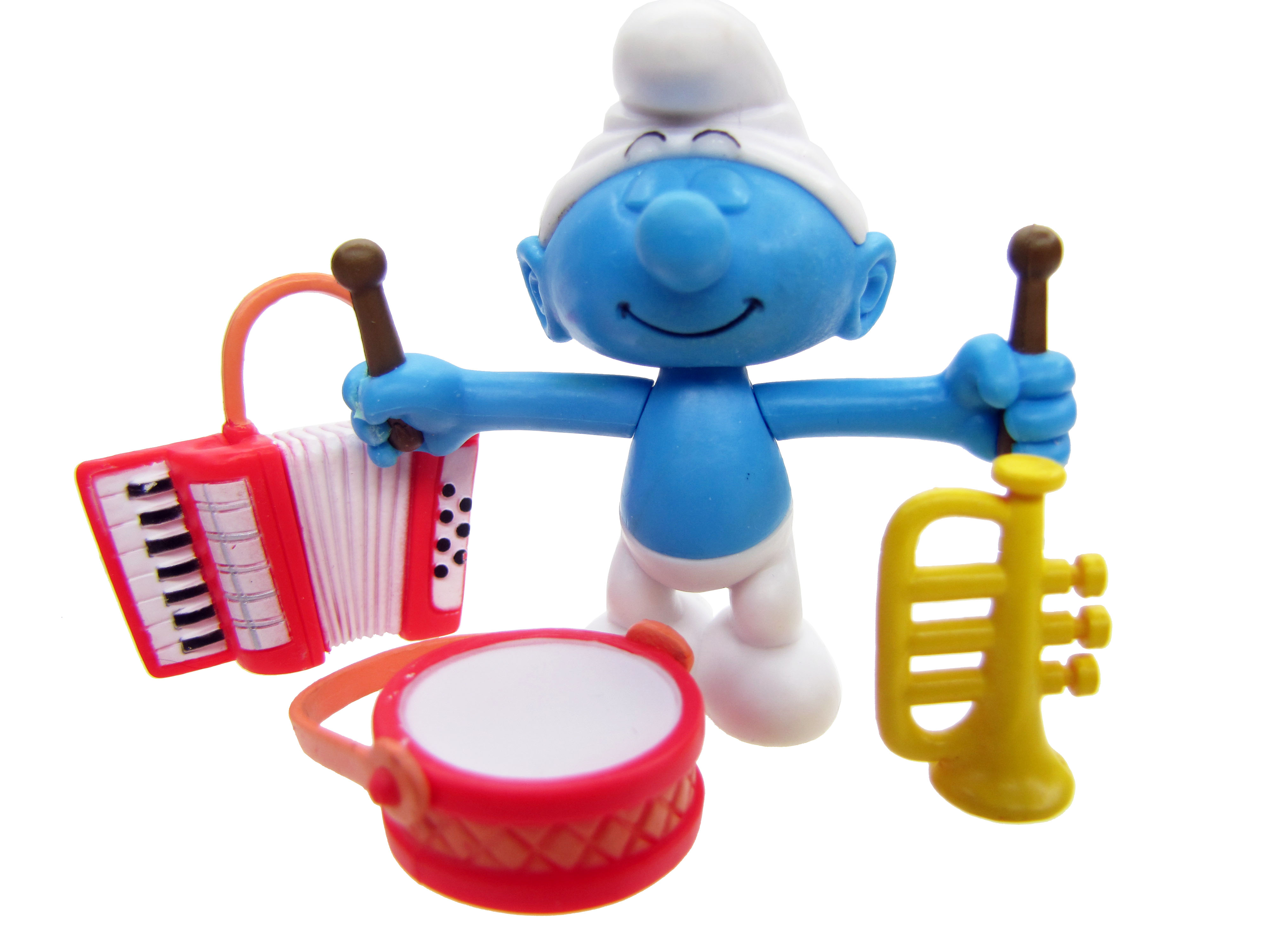 2008 The Smurfs Series 2: Harmony Smurf & Instruments Complete