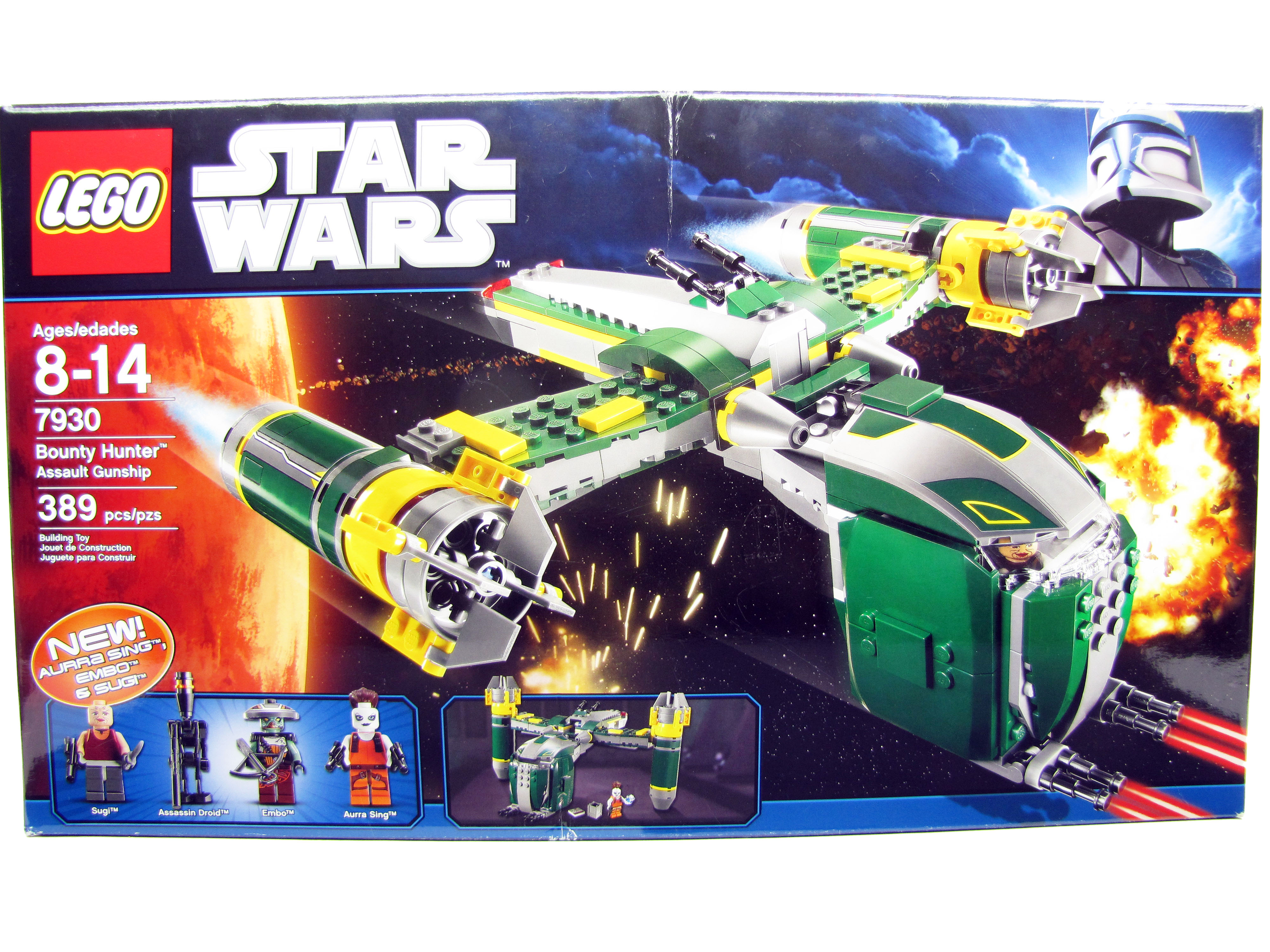 LEGO Star Wars Clone Wars Bounty Hunter Assault Gunship 7930 New