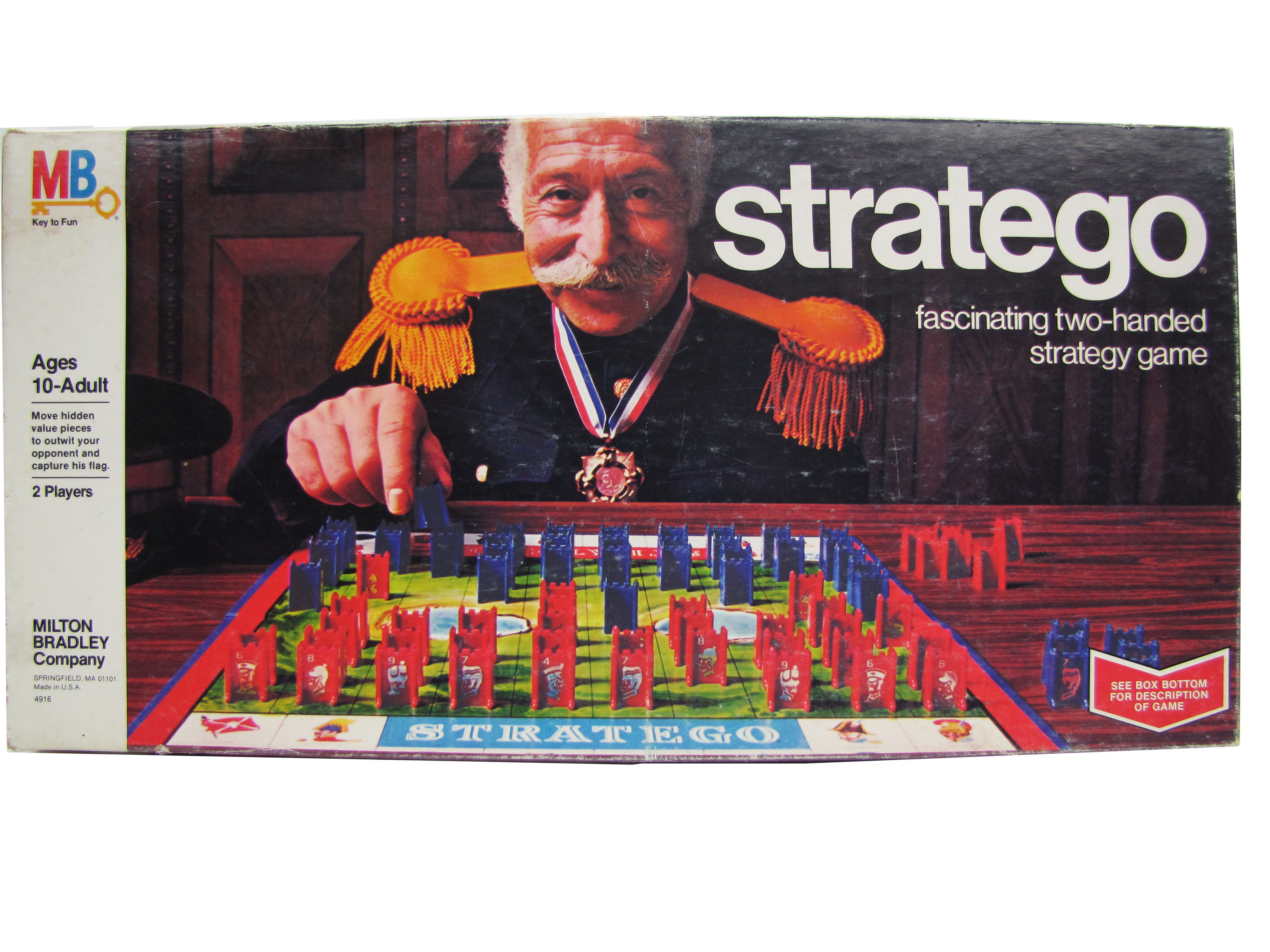 1977 Milton Bradley Stratego Board Game Complete