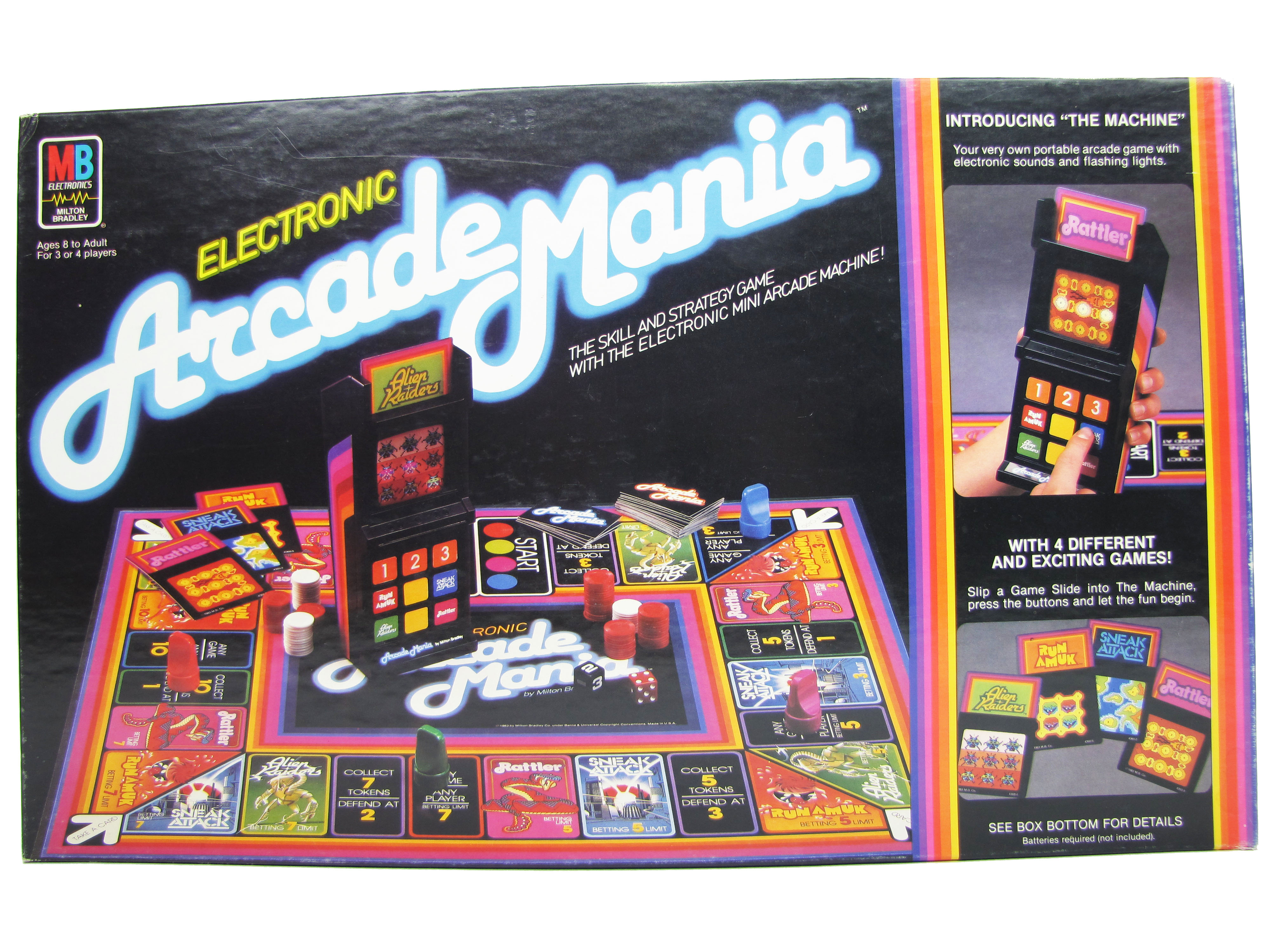 1983 Milton Bradley Electronic Arcade Mania Board Game Complete