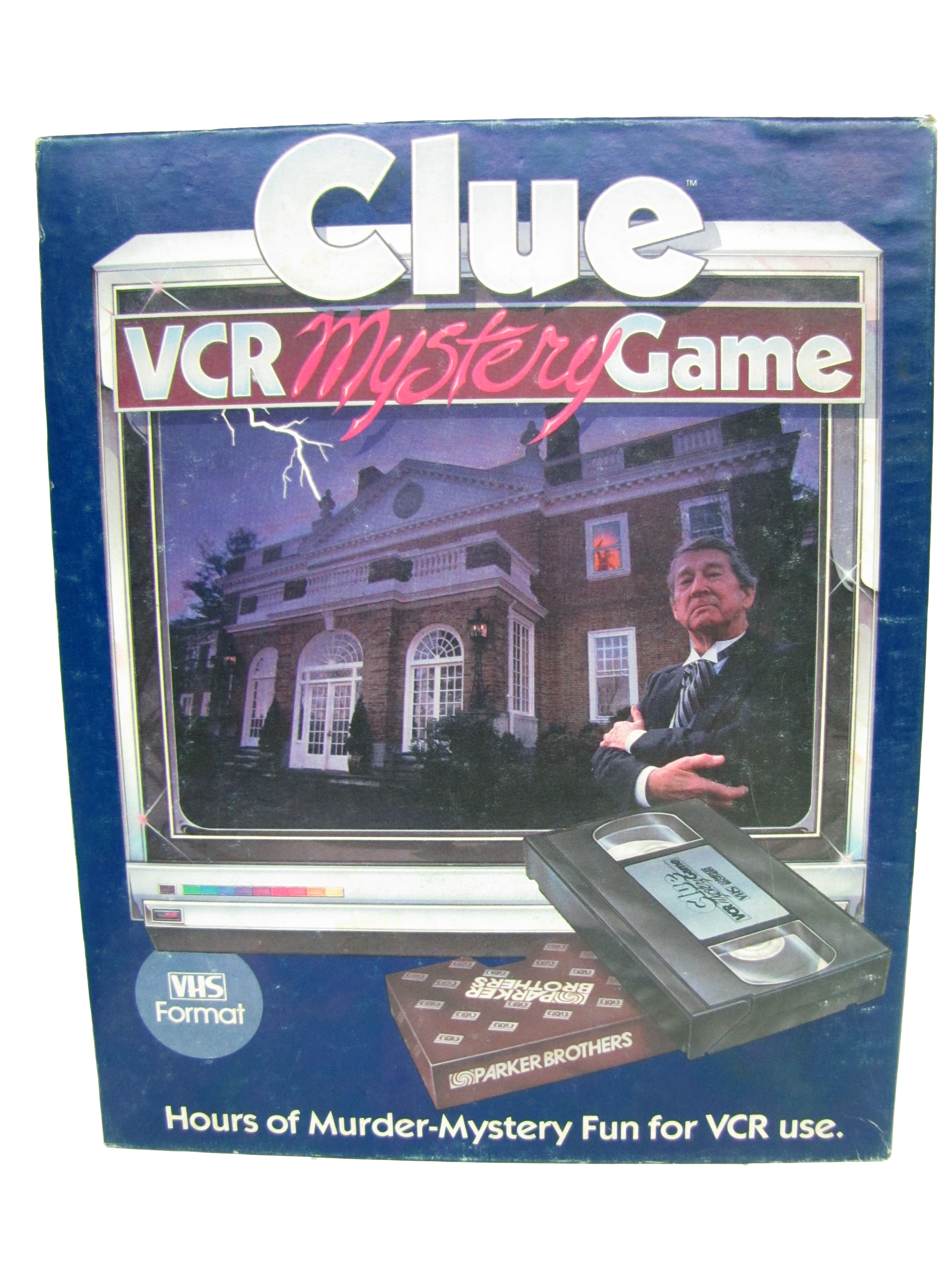 1985 Parker Brothers Clue VCR Mystery Game Board Game Complete