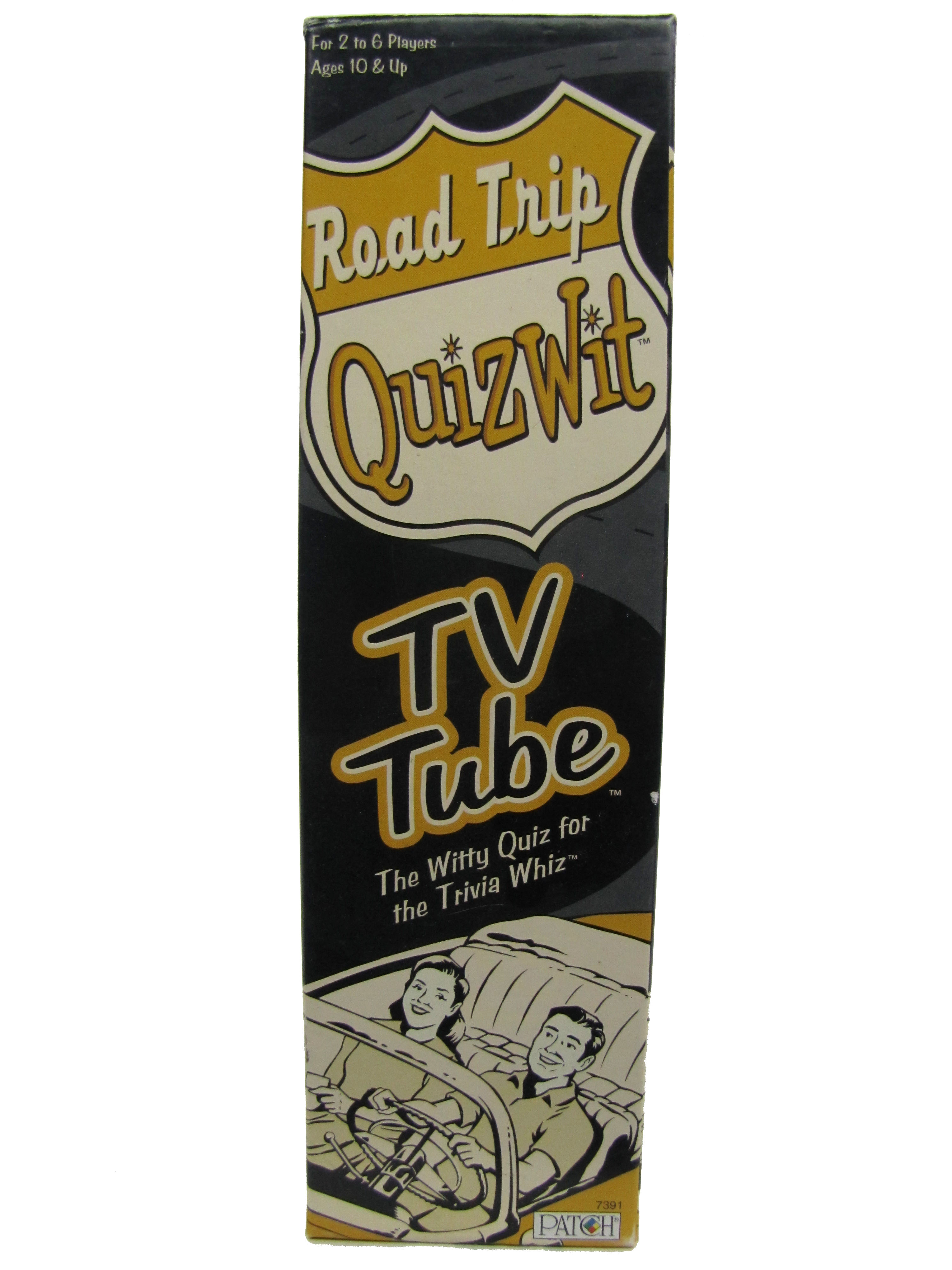 2005 Road Trip Quizwit TV Tube Board Game Complete