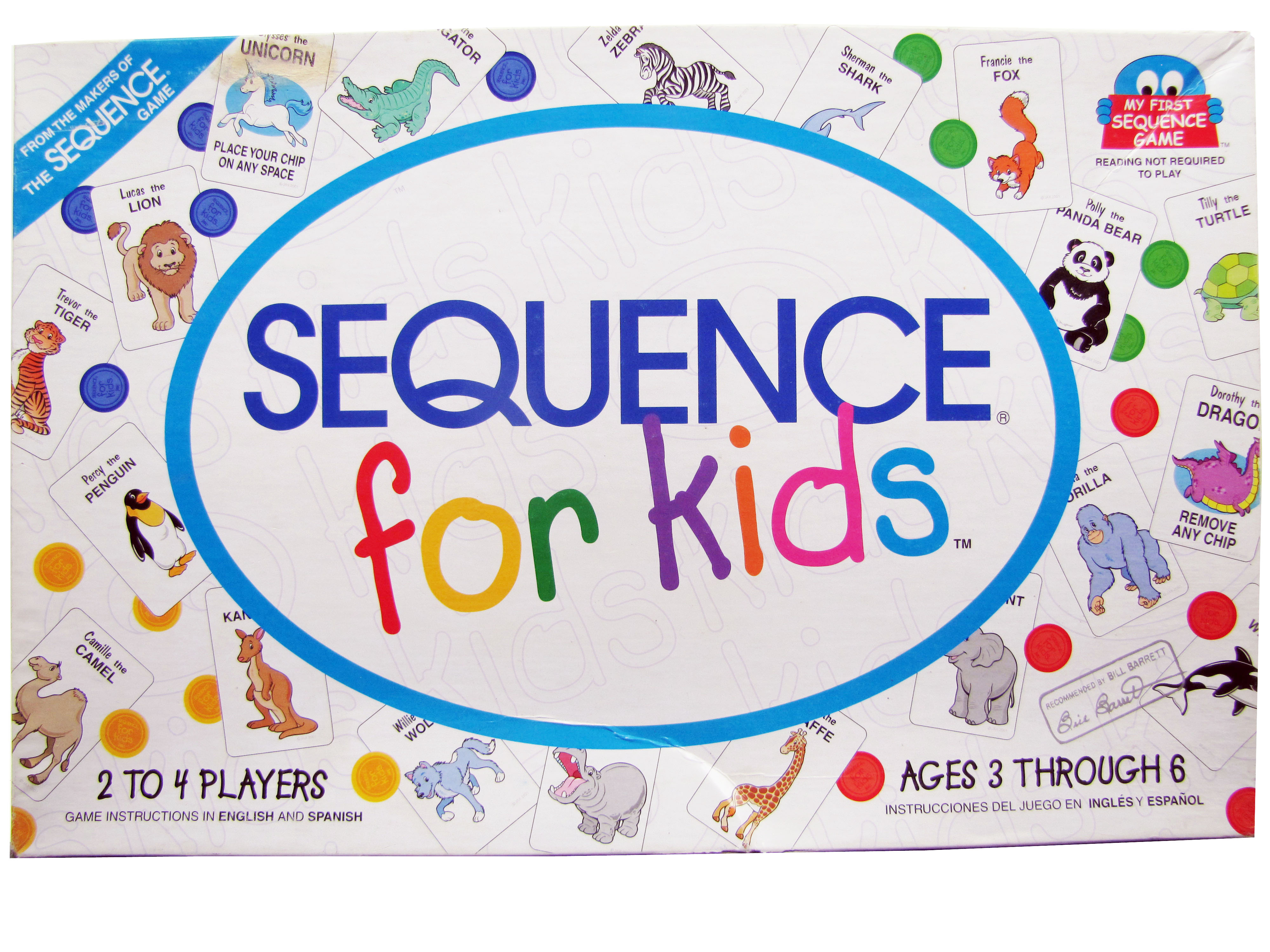2001 Sequence for Kids Board Game Complete