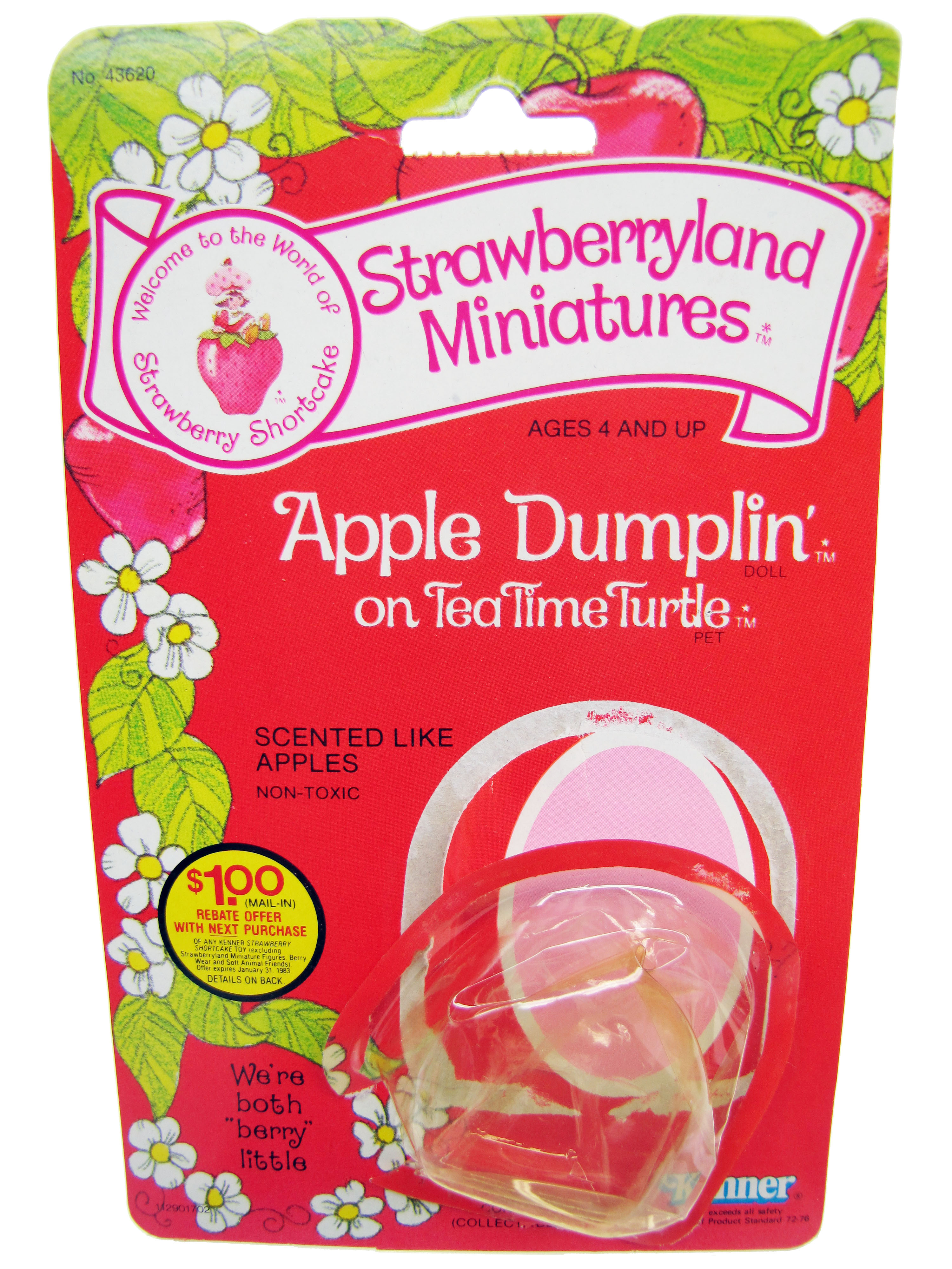 Strawberryland Miniatures Apple Dumplin on Tea Time Turtle Card