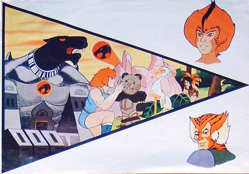 1985 ThunderCats Vintage Mexico Coca-Cola Promotional Poster